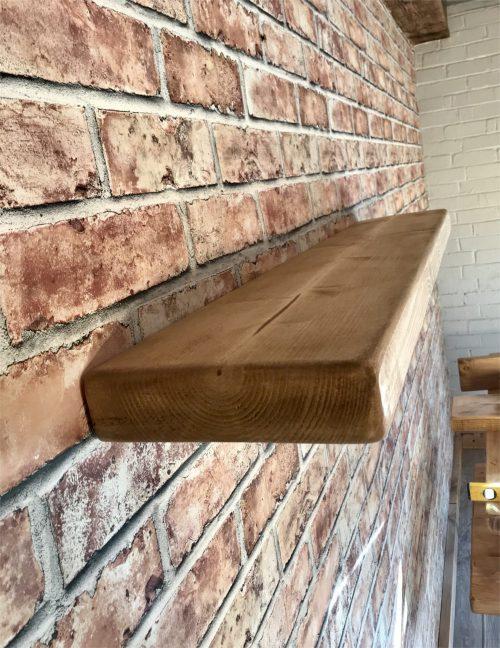 Reclaimed Rustic floating shelf (55mmx220mm)