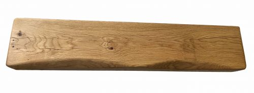 "8"" x 4"" Solid Oak Mantel Beam With Scalloped Edge"