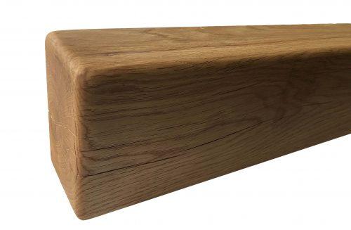 "6"" x 4"" Solid Oak Mantel Beam With Straight Edge"