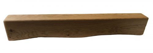 """6"""" x 4"""" Solid Oak Mantel Beam With Scalloped Edge"""