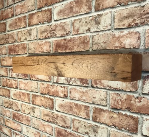 Solid Oak Mantel 4'x4' Square edge