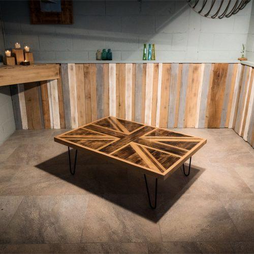 Handmade Oak Union Jack coffee Table