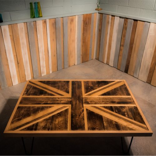 Handmade Oak Union Jack coffee Table