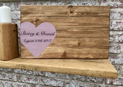 Wedding Guest Signing Rustic Board, Hand painted