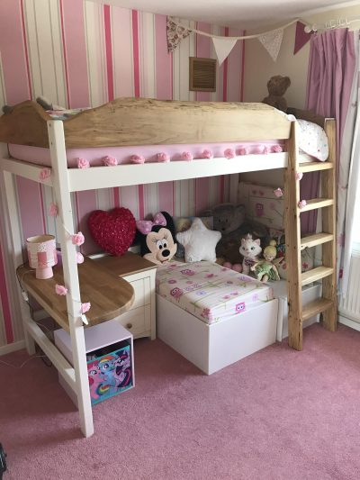 Custom built Childs high sleeper bed.