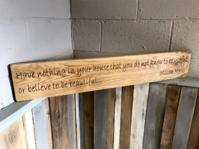 William Morris Quote Oak Beam