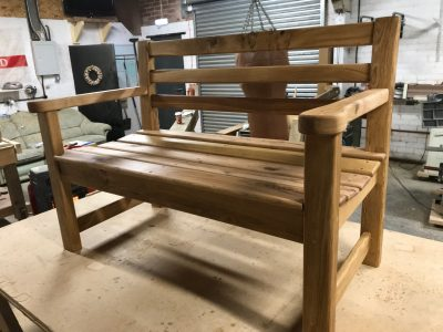 Oak Memorial Bench for Brodsworth Church yard.