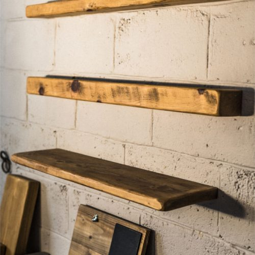 Reclaimed Rustic floating shelf (150mm x 75mm)