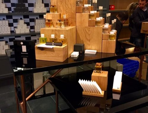 Solid oak custom made Perfume Stand for Display in Selfridges London