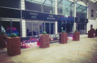Planters made for Jaques Bar in Doncaster Town centre