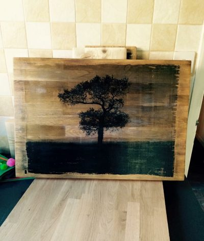 A2 Sized Bespoke oak photo print