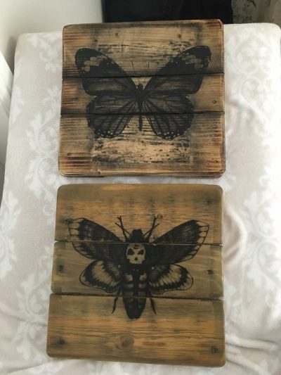 Handprinted custom rustic wall Plaques