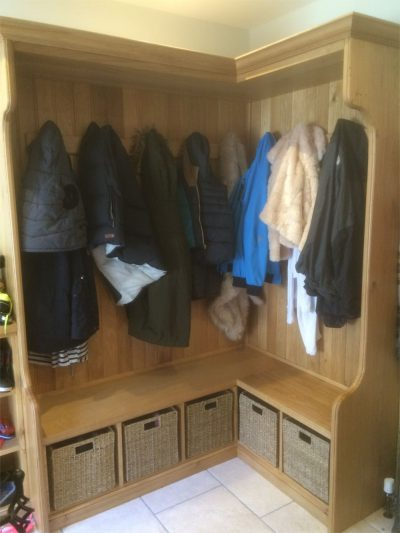Customised Solid Oak Boot Room