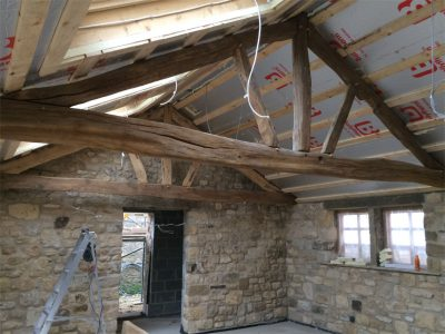Solid oak Rustic style Roof Trusses