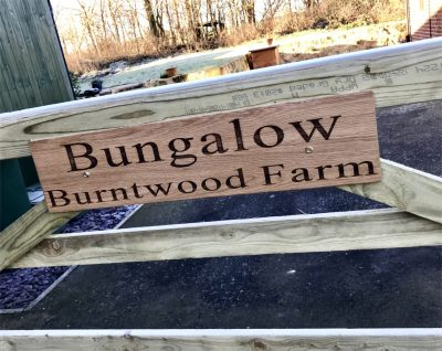 Engraved Oak Sign for Local Farm Gate