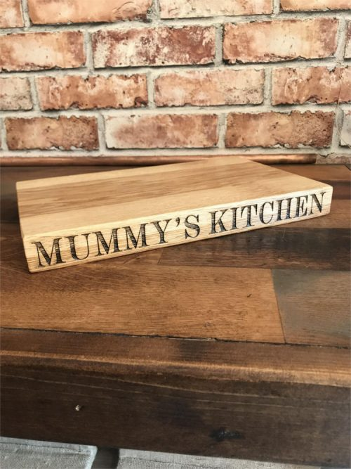 Solid Oak Large Personalised Edge Chopping Board