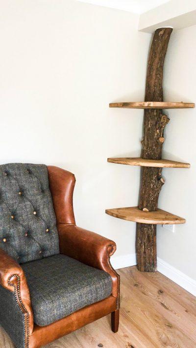 Bespoke natural shelving unit | Bespoke & Commissions | Solid Oak Designs