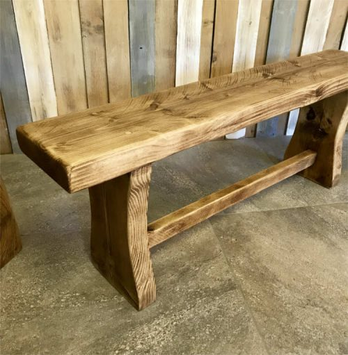 Rustic Style bench | Solid Oak Designs