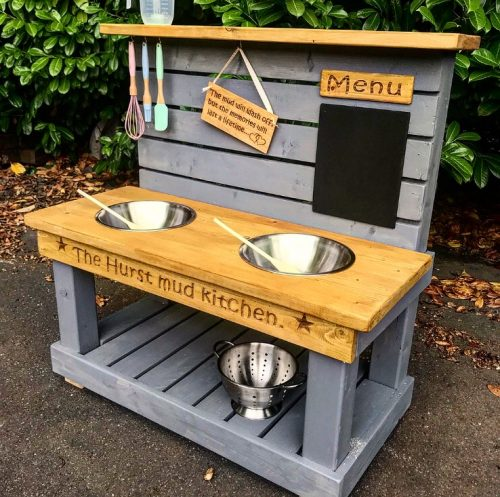 Messy Kitchen Design: Childs Personalised Mud Kitchen