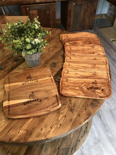 Branded serving platters | Solid Oak Designs